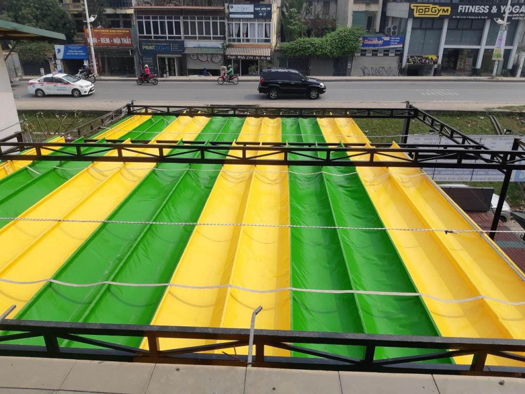 Mái xếp di động, mái bạt xếp Bền Đẹp tại Hà Nội