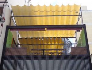 Làm mái xếp, mái bạt xếp di động tại Khu đô thị sinh thái Ecopark Hà Nội